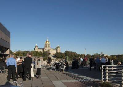 The State Historical Building's Grand Terrace offers beautiful views of the State Capitol.