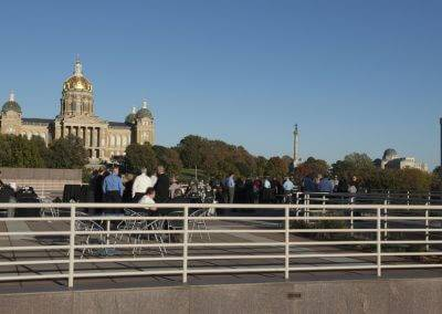 With gorgeous views of the State Capitol, the Grand Terrace is a great option for your next event.