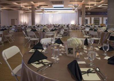 The architectural details in the State Historical Building help create a stunning atmosphere for your wedding.
