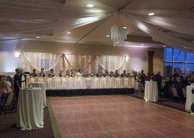 barattas forte event venue des moines iowa wedding set up