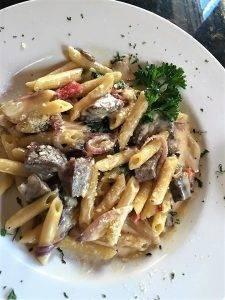 barattas beef tenderloin pasta mushrooms peppers italian