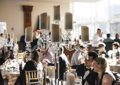 forte barattas catering event venue des moines candelabra table setting