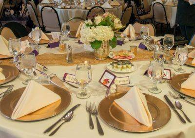 barattas forte event banquet venue wedding plate table setting classic des moines iowa