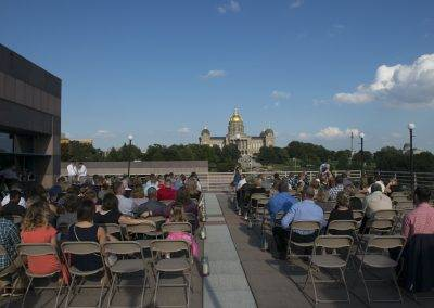 Hosting your wedding on the Grand Terrace means you'll have beautiful views of the State Capitol.