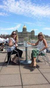 cafe barattas tunes on terrace des moines lunch live music