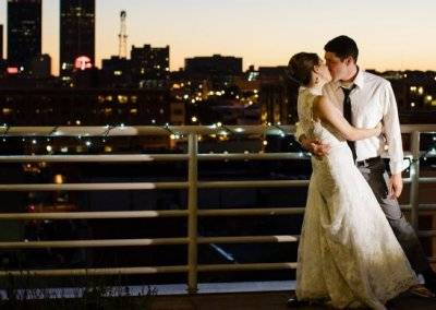 The photo opportunities are endless on the terrace and your wedding album will be full of moments like this.