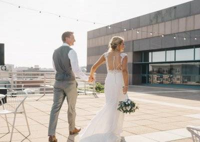 Wedding on the terrace at the State Historical Building (photography by Kara Vorwald)