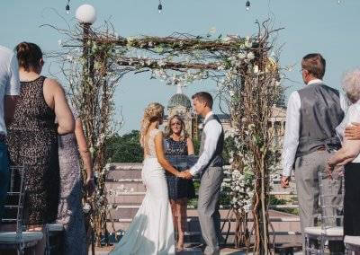 Wedding on the terrace at State Historical Building