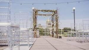 terrace wedding outdoor venue des moines